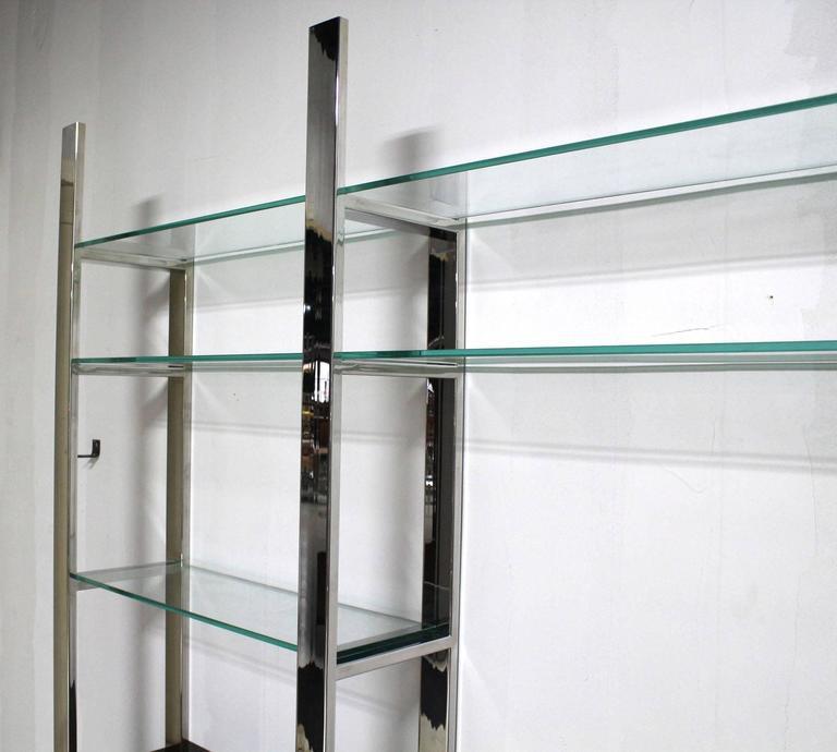 high end burl wood thick glass shelves 3 bay wall unit decaso rh decaso com 1 thick glass shelves 1 thick glass shelves