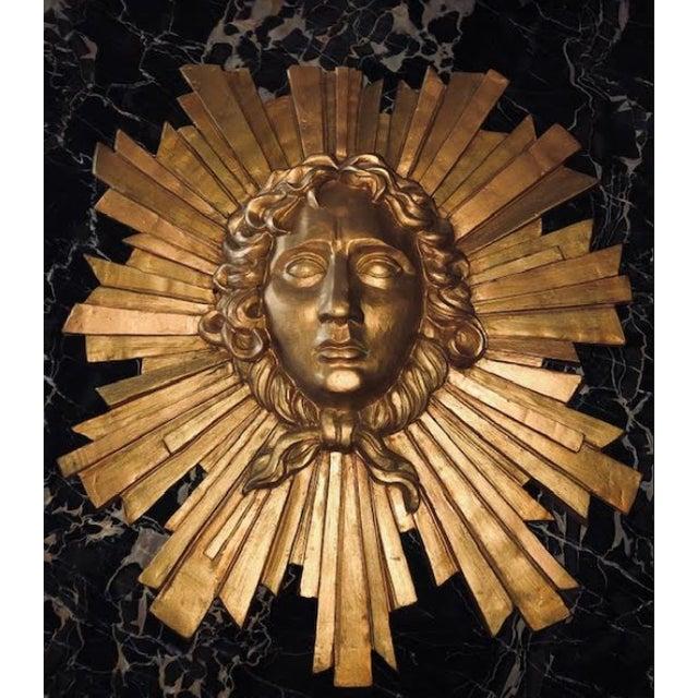 Gold Le Roi Soleil Louis XIV Sculpted Head For Sale - Image 7 of 13