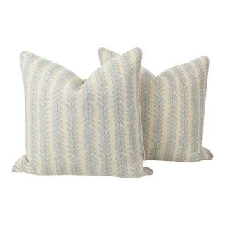 Schumacher Woodperry Linen Print Pillows, a Pair