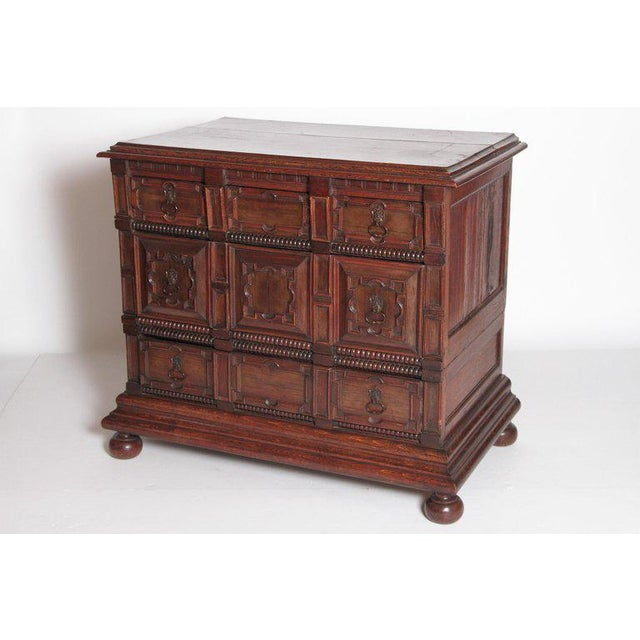 Jacobean A Late 19th Century Oak Jacobean Style Chest For Sale - Image 3 of 13