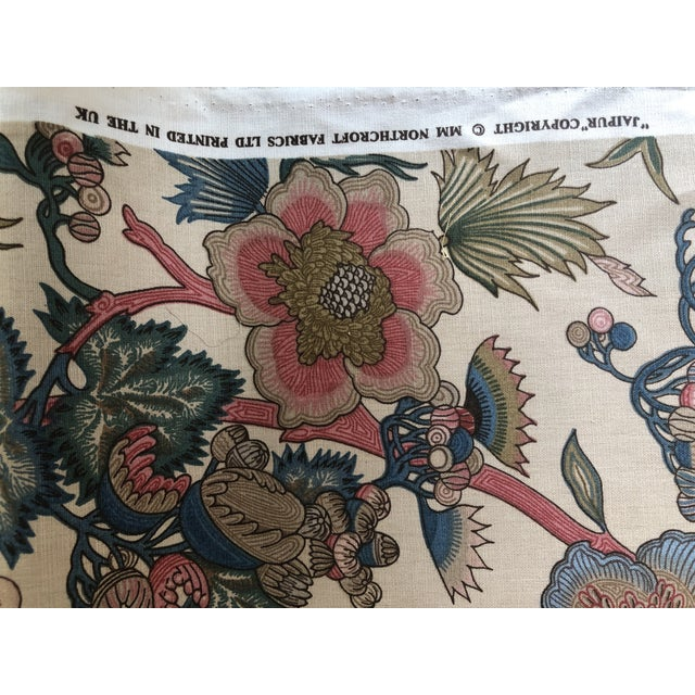 """Early 21st Century Jacobean Northcroft """"Jaipur"""" Floral Fabric - 1 3/4 Yards For Sale - Image 5 of 6"""