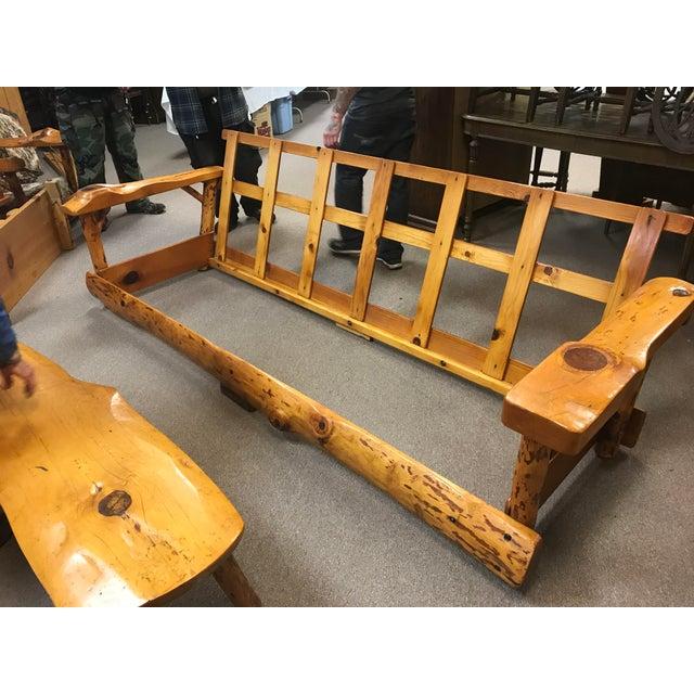 C. Selden Belden Pinecraft Furniture Lodge Style Sofa For Sale - Image 5 of 8