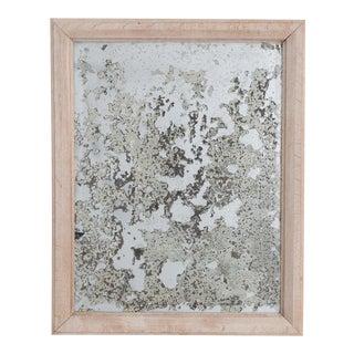 Antique Belgian Oak Frame & Mercury Mirror For Sale