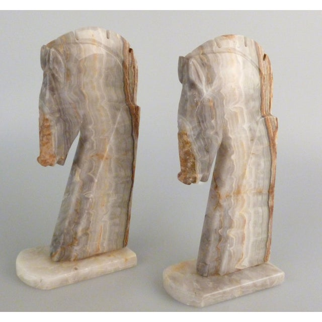 Handmade Onyx Horse Bookends - A Pair - Image 4 of 9