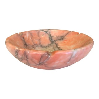 Italian Pink Marble Ashtray For Sale