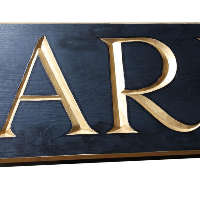 "French Provincial ""The Armoire"" Hanging Sign For Sale - Image 3 of 7"