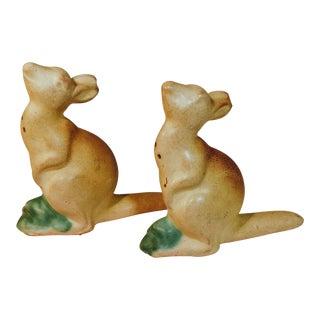 Vintage Kangaroo Rosemeade Salt & Pepper Shakers - a Pair For Sale