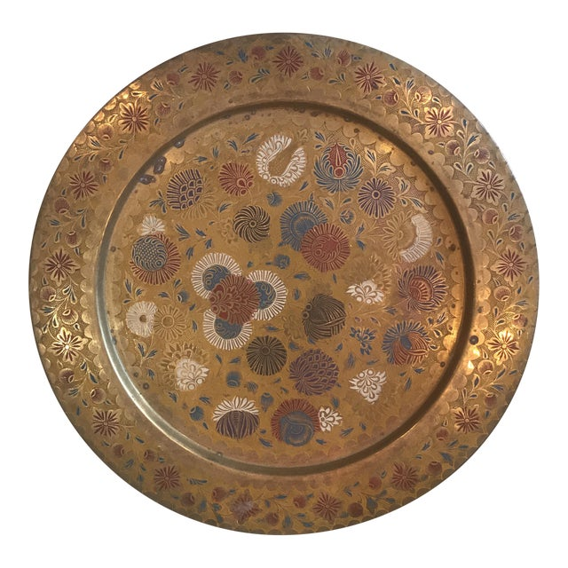 Vintage Indian Gold Plate For Sale