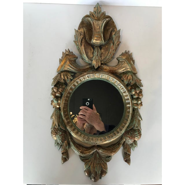 Vintage French Louis XV Carved Wooden Mirror For Sale - Image 6 of 6