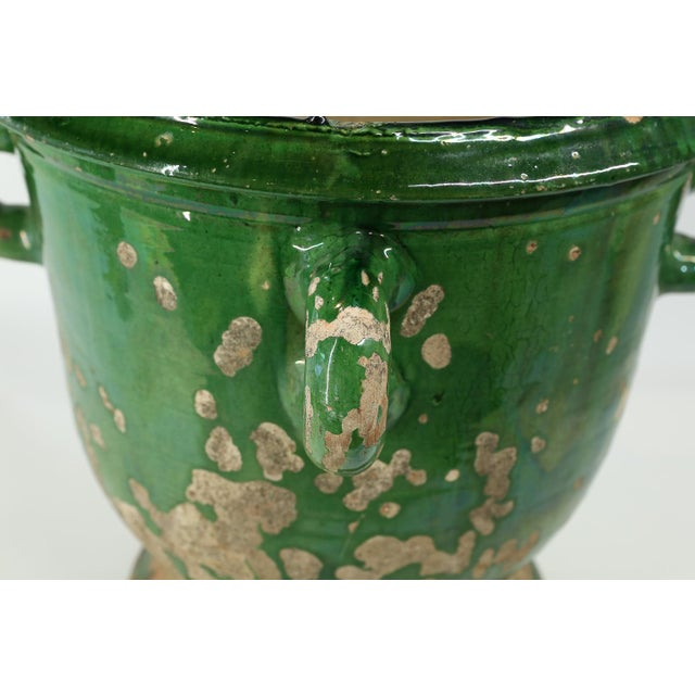 Glazed Terracotta Planter from Anduze, France For Sale - Image 4 of 8