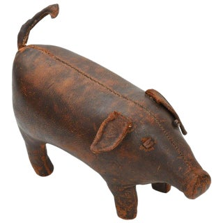 1960s Dimitri Omersa for Abercrombie & Fitch Pig Ottoman