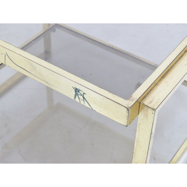 Modern Brass & Smoke Glass Side Table - Image 3 of 3