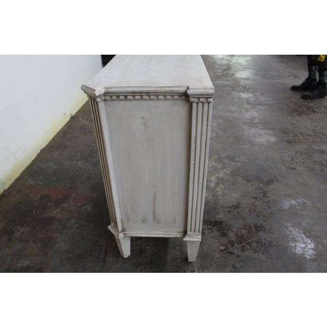 White 20th Century Vintage Swedish Gustavian Style Nightstands - a Pair For Sale - Image 8 of 10