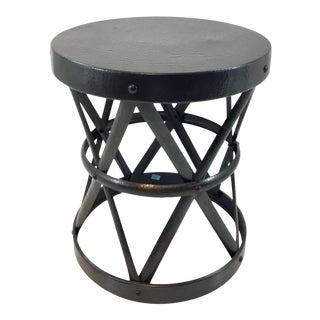 Arteriors Dark Bronze Costello SIde Table For Sale