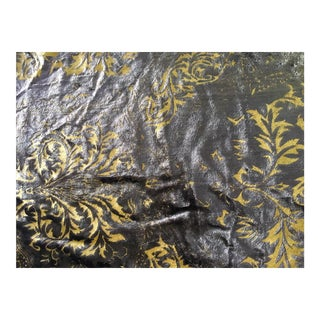 Fortuny Style Hand Stamped Velvet Fabric - 1 Yard