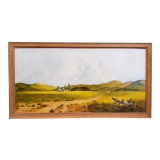 Vintage Country Farm Landscape by Jacobus Schot C.1970s For Sale