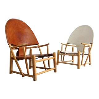 "1970s Vintage Werther Toffoloni and Piero Palange ""Hoop"" Lounge Chairs- A Pair For Sale"