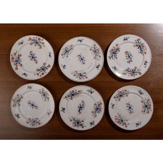 18th Century Staffordshire Soft Paste Floral Plates - Set of 12 For Sale - Image 11 of 13