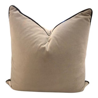Rustic Beige & Brown Accent Pillow For Sale
