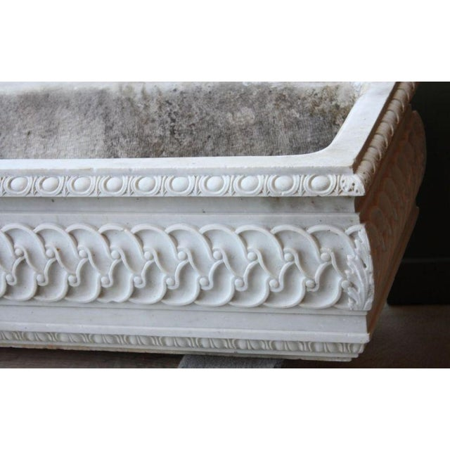 19th Century Antique Carved Marble Planter Watering Trough For Sale - Image 4 of 4