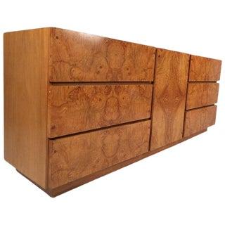 Mid-Century Modern Burl Dresser by Lane Furniture For Sale