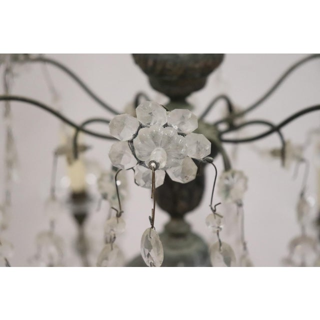 18th Century Italian Louis XVI Crystals Antique Chandelier For Sale - Image 6 of 12