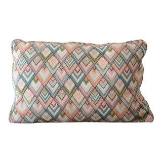 Vintage Art Deco Lumbar Throw Pillow For Sale
