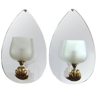 1935 Fontana Arte Mirrored Sconces - a Pair For Sale