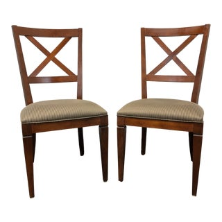 "Ethan Allen ""Elements"" Maple Dining Side Chairs - Pair 2 For Sale"