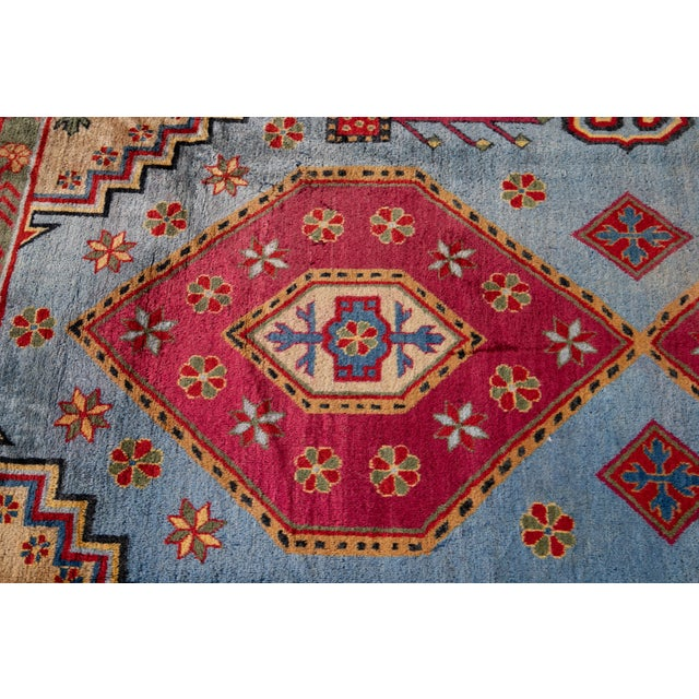 Textile Mid-20th Century Vintage Khotan Rug 6' 10'' X 9' 7''. For Sale - Image 7 of 13