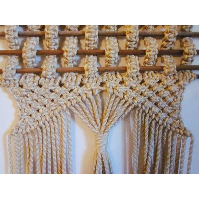 Vintage Jute Rope Macrame Boho Wall Hanging - Image 7 of 10