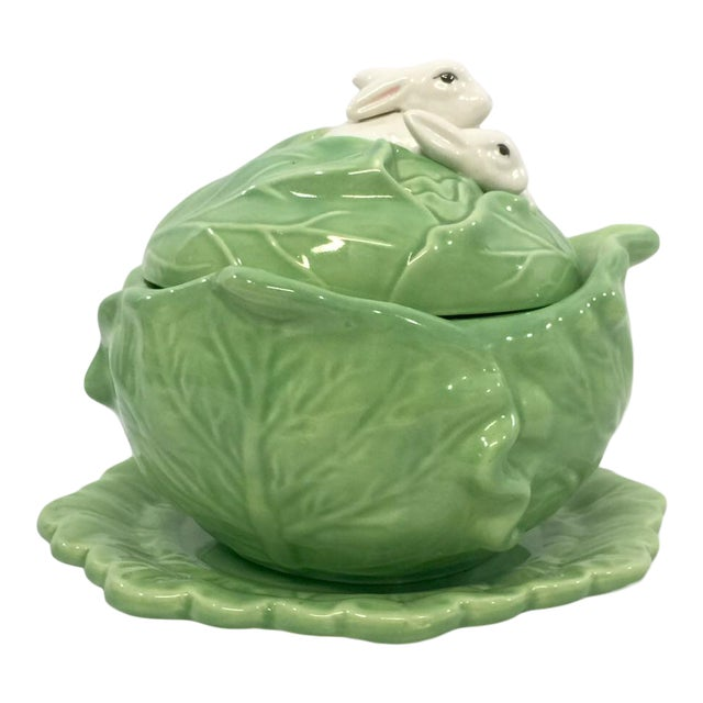 Rabbit & Cabbage Tureen & Under Plate For Sale