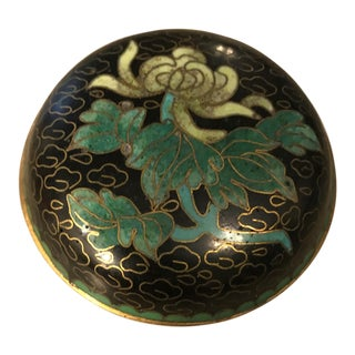 Cloisonné Enamel Lidded Pill Box For Sale