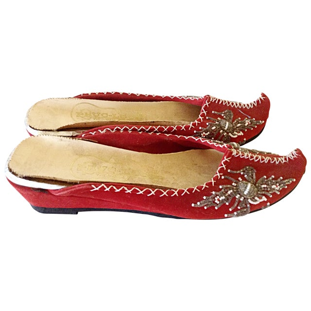 Pair of Vietnamese Embroidered Slippers - Image 1 of 3