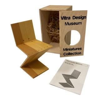 Vitra Design Museum Miniature Gerrit Reitveld Chair For Sale