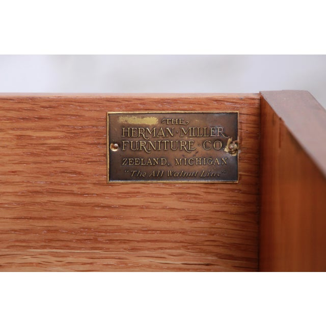 Early Herman Miller Burled Walnut Gentleman's Chest, Circa 1920s For Sale - Image 12 of 13