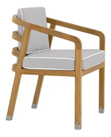 Image of Light Gray Outdoor Dining Chairs