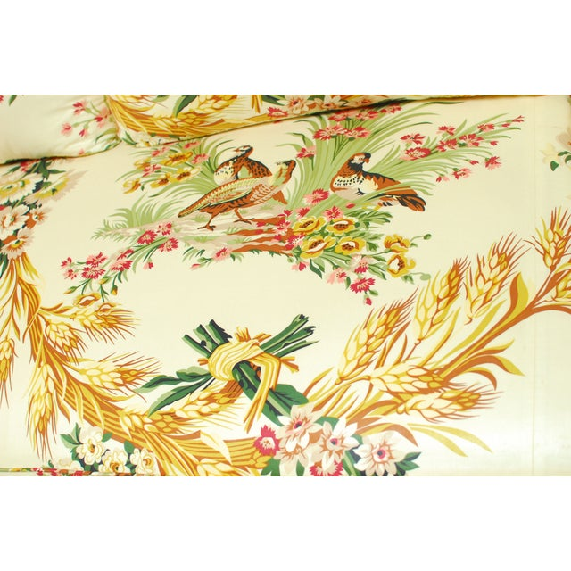 Brunschwig & Fils French Upholstered Toile Sofa For Sale - Image 9 of 10