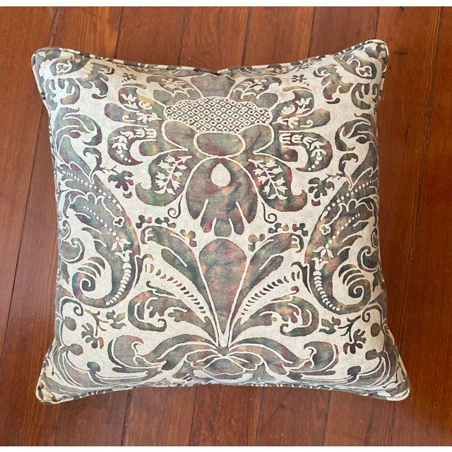Vintage Fortuny Pillows - a Pair For Sale In New Orleans - Image 6 of 8