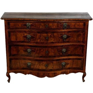 18th C. Burlwood Italian Commode For Sale
