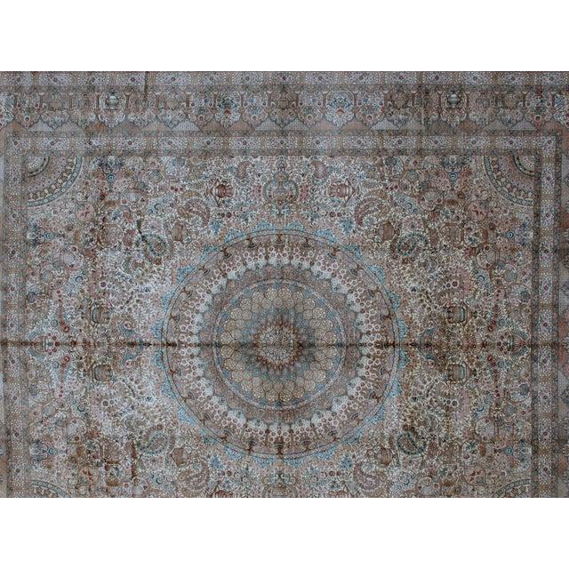 Leon Banilivi Pure Silk Tabriz Carpet - 8' x 10' For Sale - Image 4 of 10