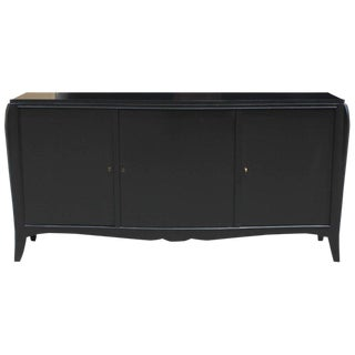 Classic French Art Deco Ebonized Sideboard or Credenza, 1940s