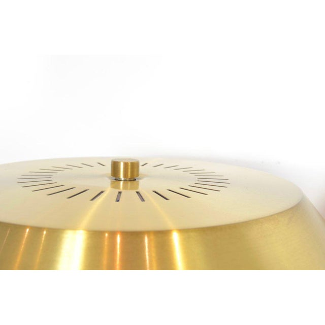Gold Jo Hammerborg President Brass and Teak Table Lamp For Sale - Image 8 of 10