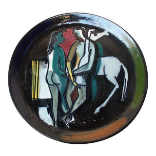 Italian Ceramic Charger by Luciano Rumi For Sale