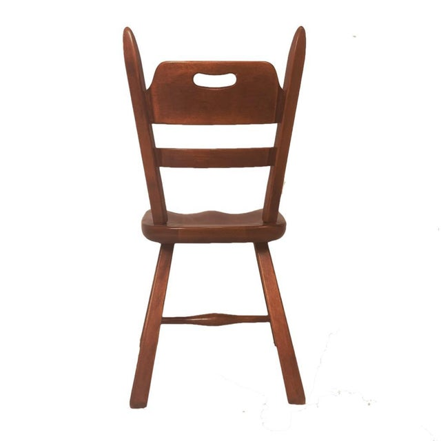 Set of 6 Cushman Vermont Rock Maple Dining Chairs Designed by Herman DeVries For Sale - Image 10 of 13