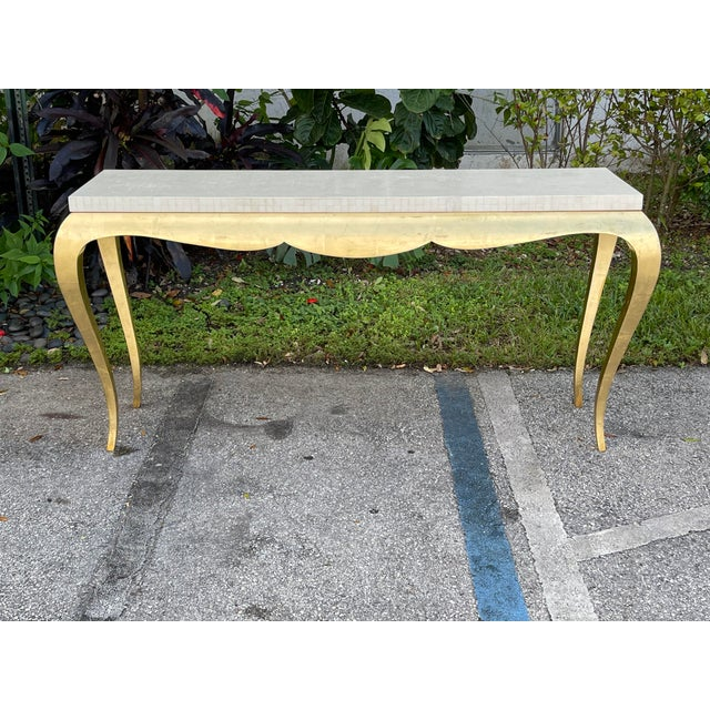 Tessellated and Horn Console For Sale - Image 9 of 10
