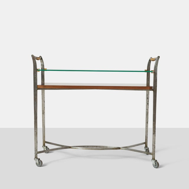 Dominique Two Tier Bar Cart by Dominique For Sale - Image 4 of 7
