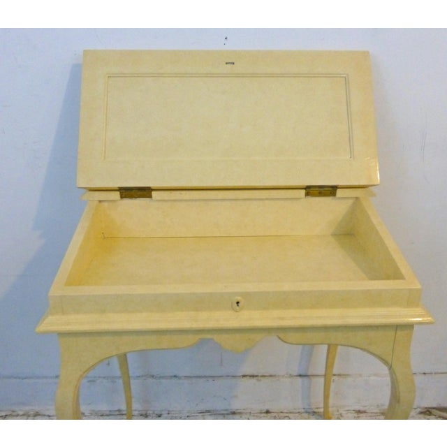 Creamy Lacquered Writing Desk - Image 3 of 8