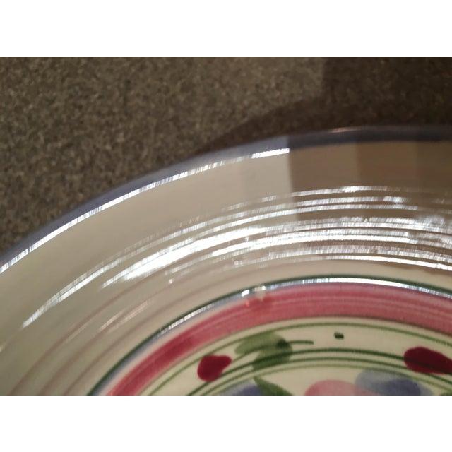 Signed Vintage Liz Vigoda Art Pottery Bowl For Sale - Image 4 of 7