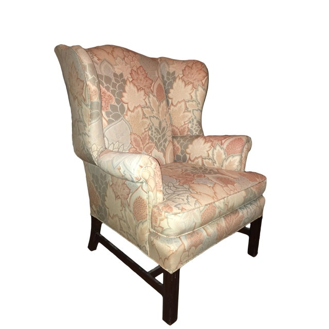 20th Century George III Style Wingback Chair For Sale